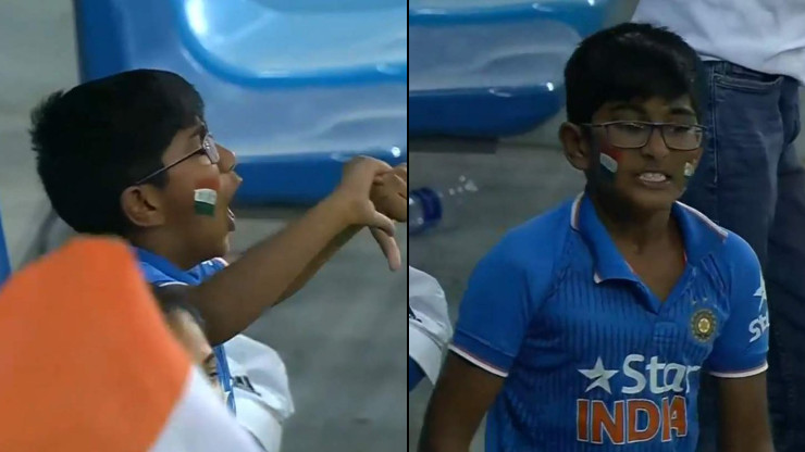 WATCH: Young fan reacts in a hilarious way after MS Dhoni's dismissal on a duck