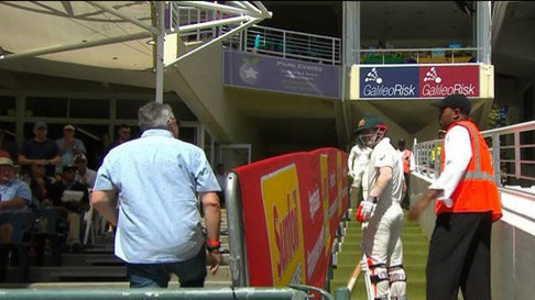 Watch: David Warner gets abused by a South African fan