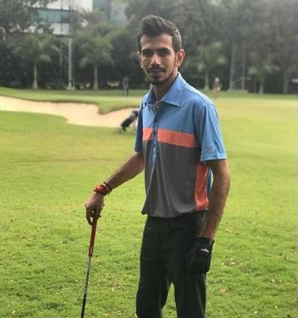 Watch: Yuzvendra Chahal pulls off a 'Dhoni' in golf