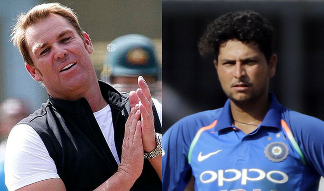Shane Warne and Kuldeep Yadav | AP Photo