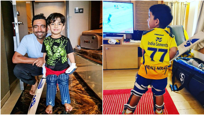 IPL 2021: Chennai Super Kings post an adorable picture of Junior Uthappa in yellow jersey