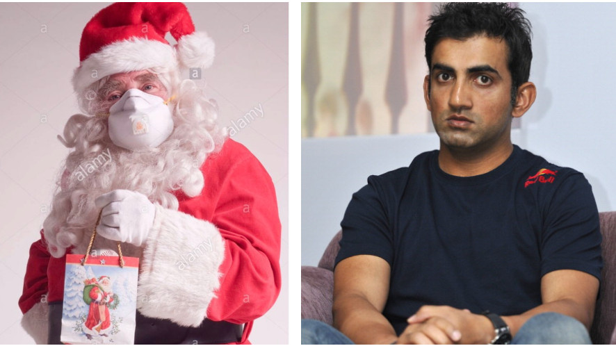 Gautam Gambhir posts picture of a Santa with air-filter mask; takes a dig at AAP government