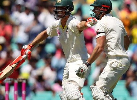 Ashes 2017-18: Watch - Marsh brothers' premature century celebration almost ended in disaster