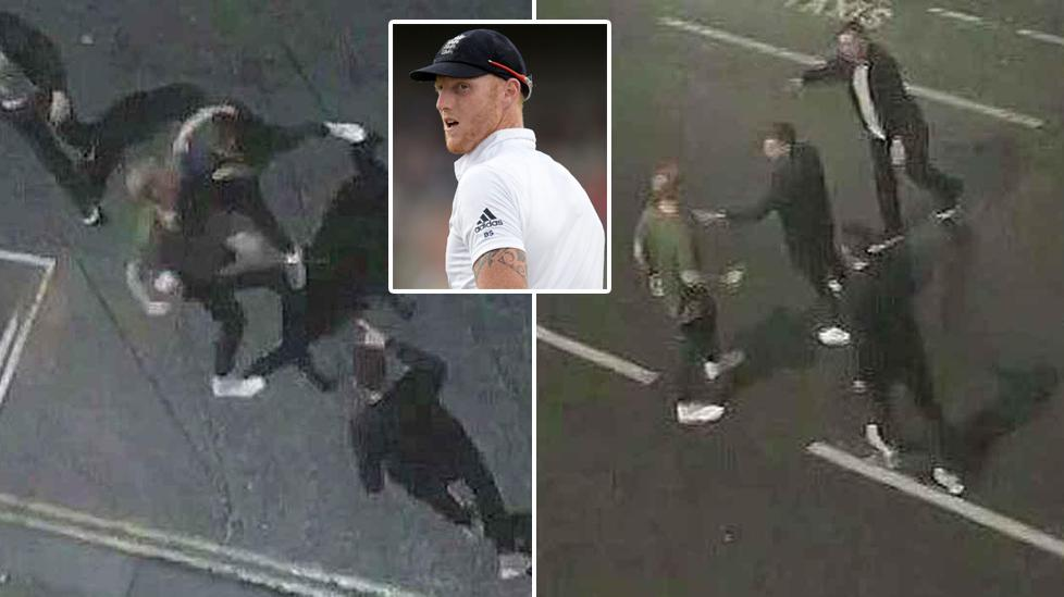 The stills from a CCTV camera showing Stokes involved in the brawl outside the Bristol pub