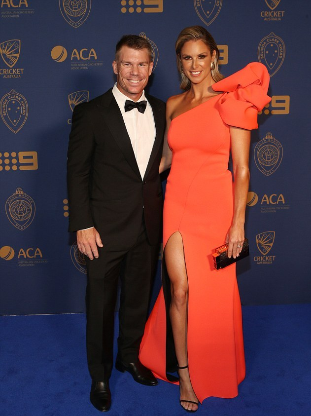 David Warner with wife Candice | Getty