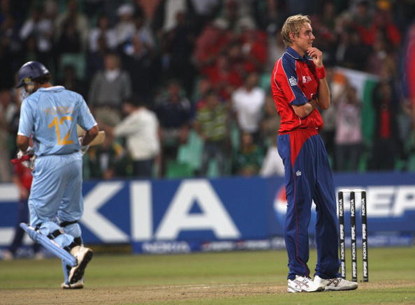 Stuart Broad during that famous over | Getty