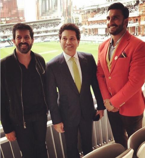 Ranveer Singh with Kabir Khan and Sachin Tendulkar at Lord's | Instagram