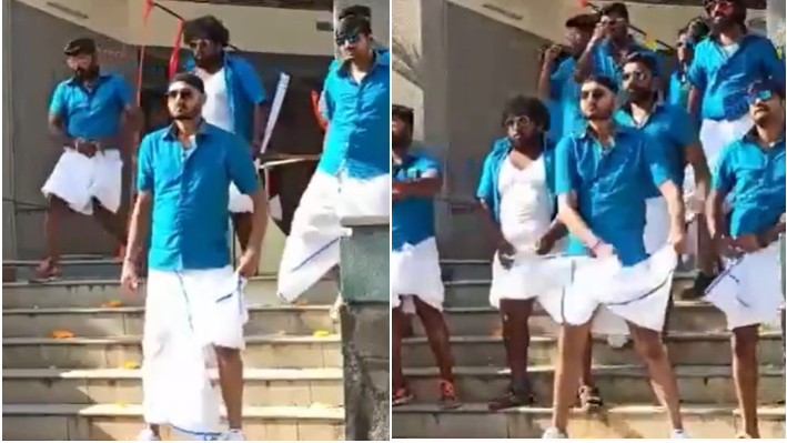WATCH - Harbhajan Singh shares his version of 'Vaathi coming' in a rowdy look