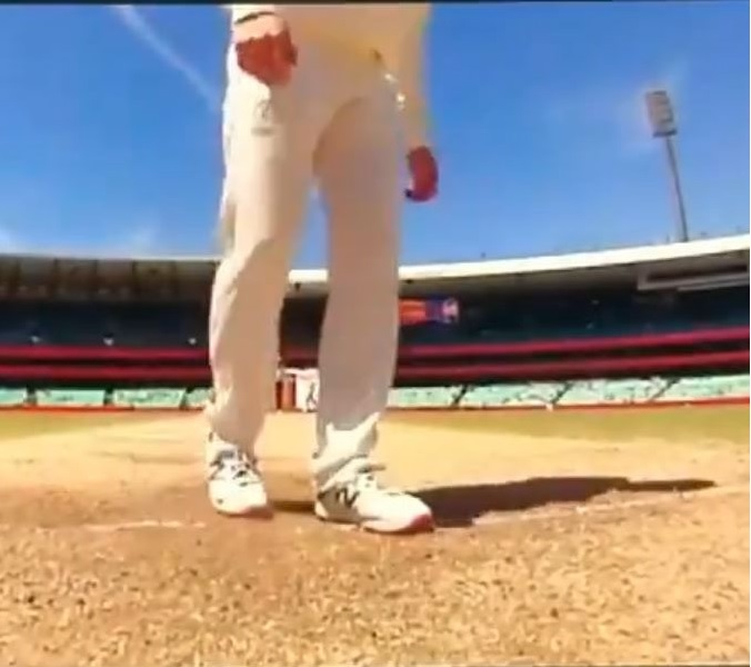 Steve Smith was seen scuffing up the crease after which Pant had to take a new guard