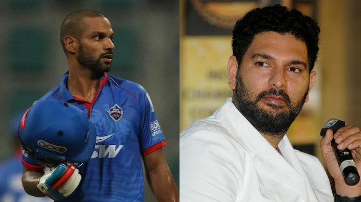 IPL 2020: Shikhar Dhawan explains to Yuvraj Singh why he didn't opt for DRS against SRH