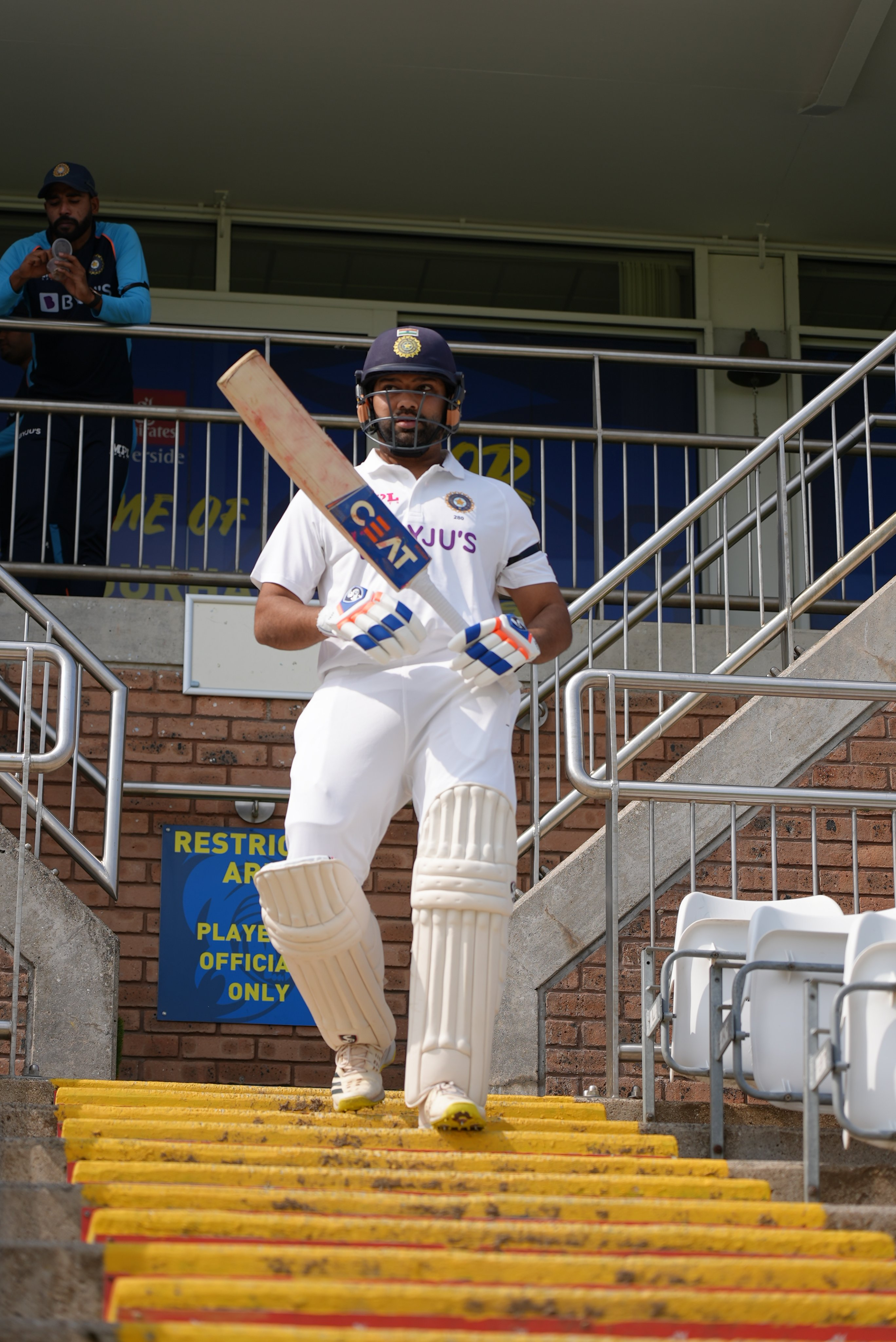 Rohit Sharma is captaining the Indians in the practice game | BCCI Twitter