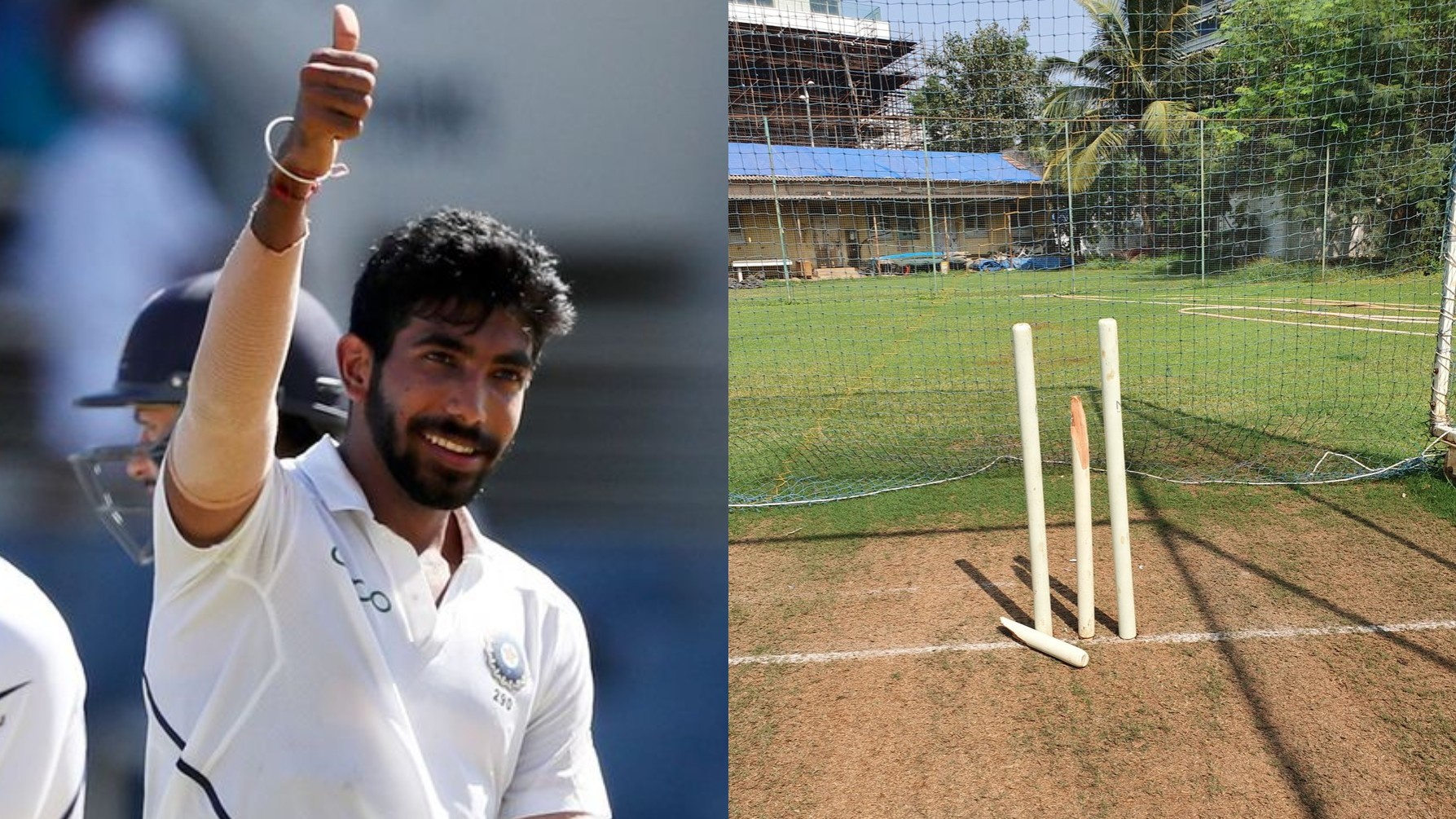 Jasprit Bumrah is back to being best, shares photo of broken middle stump during practice