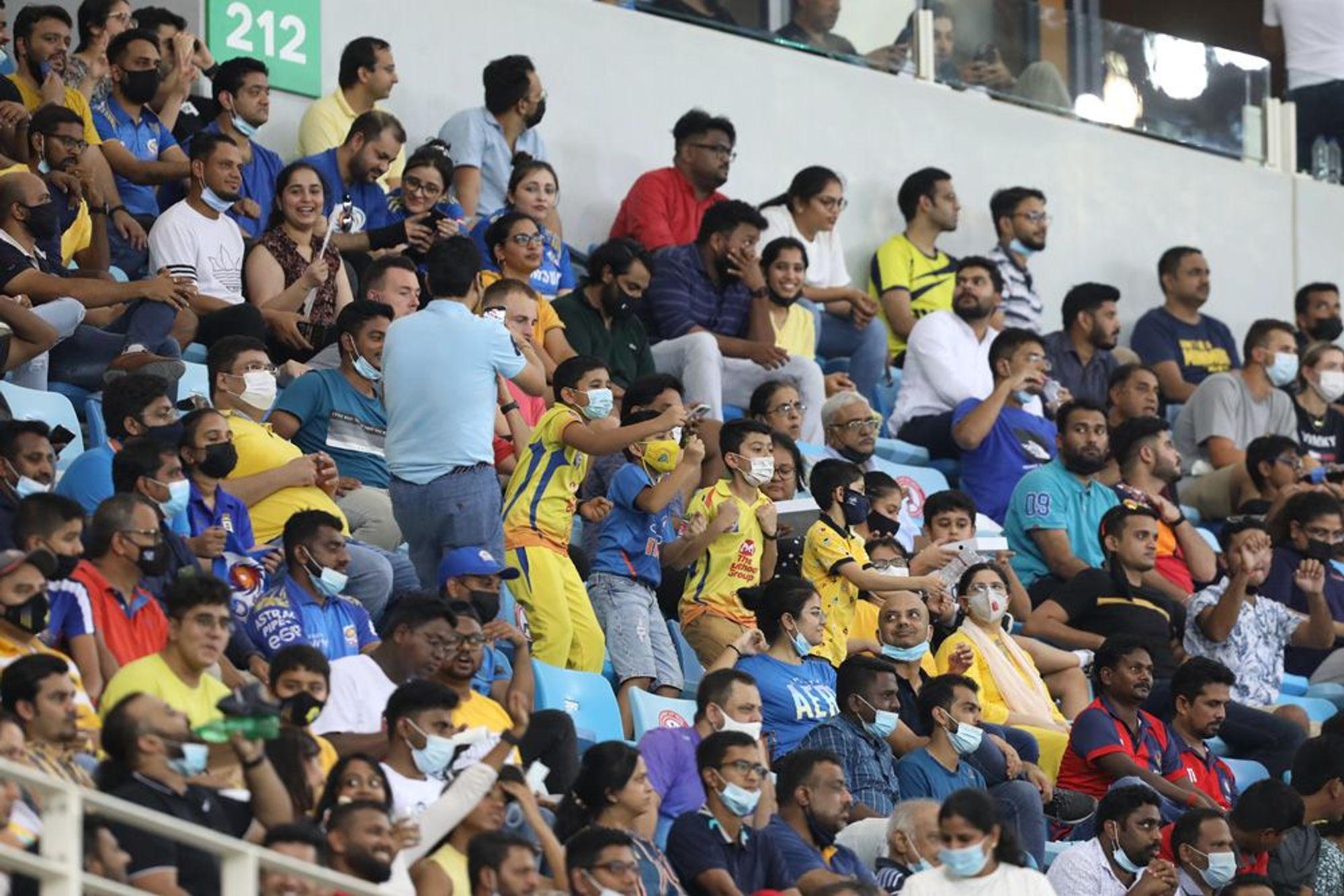 Spectators were allowed in stadiums   BCCI/IPL