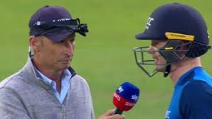 Nasser Hussain's innovative way of commentary gets criticized on social media