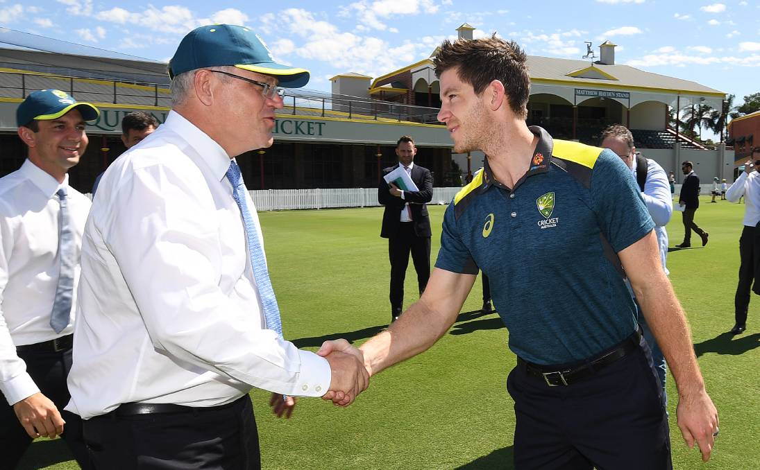 Paine with Australian PM | Getty Images