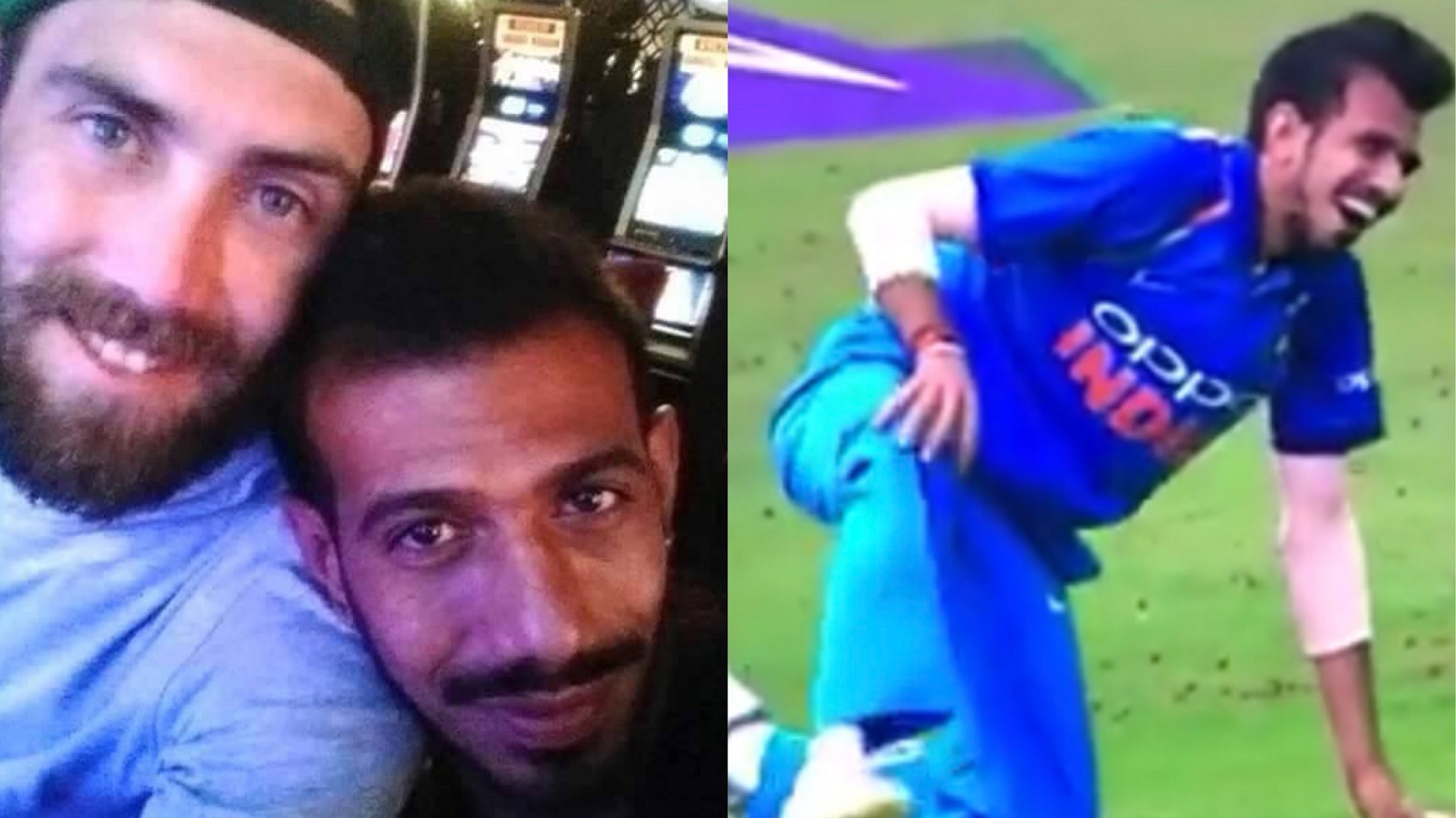 WATCH: Yuzvendra Chahal gets trolled by Glenn Maxwell after suffering a blow on his knee