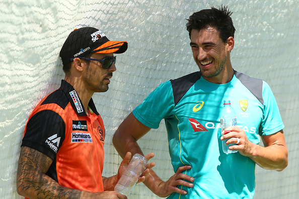 Mitchell Johnson and Mitchell Starc | GETTY