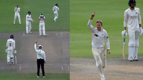 WATCH: Jos Buttler in disbelief after Joe Root gets him out in County Championship