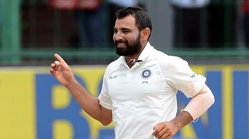 Mohammad Shami removed the Windies openers on the second day of the ongoing Rajkot Test | Getty