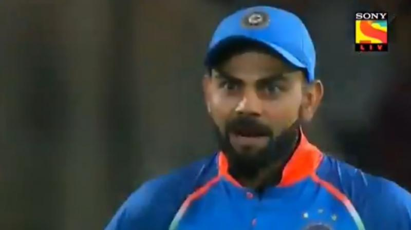Virat Kohli returned the sledging favour to Tabraiz Shamsi (Pic Source: Screengrab)