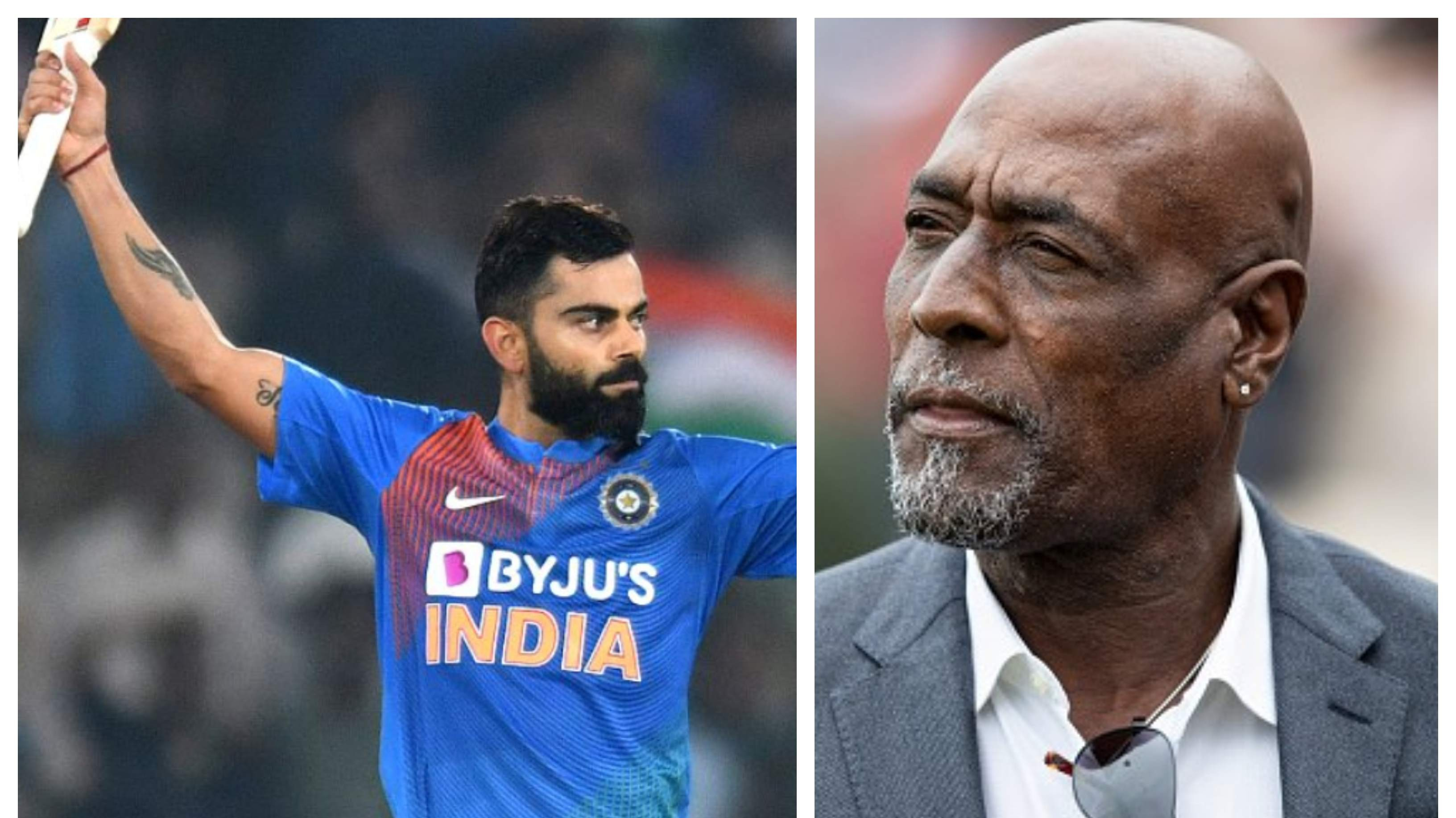 IND v WI 2019: Kohli reacts after receiving compliment from Sir Vivian Richards for his Hyderabad heroics