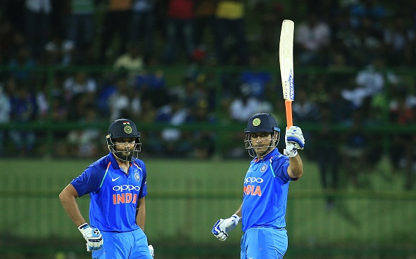 MS Dhoni and Rohit Sharma | Getty