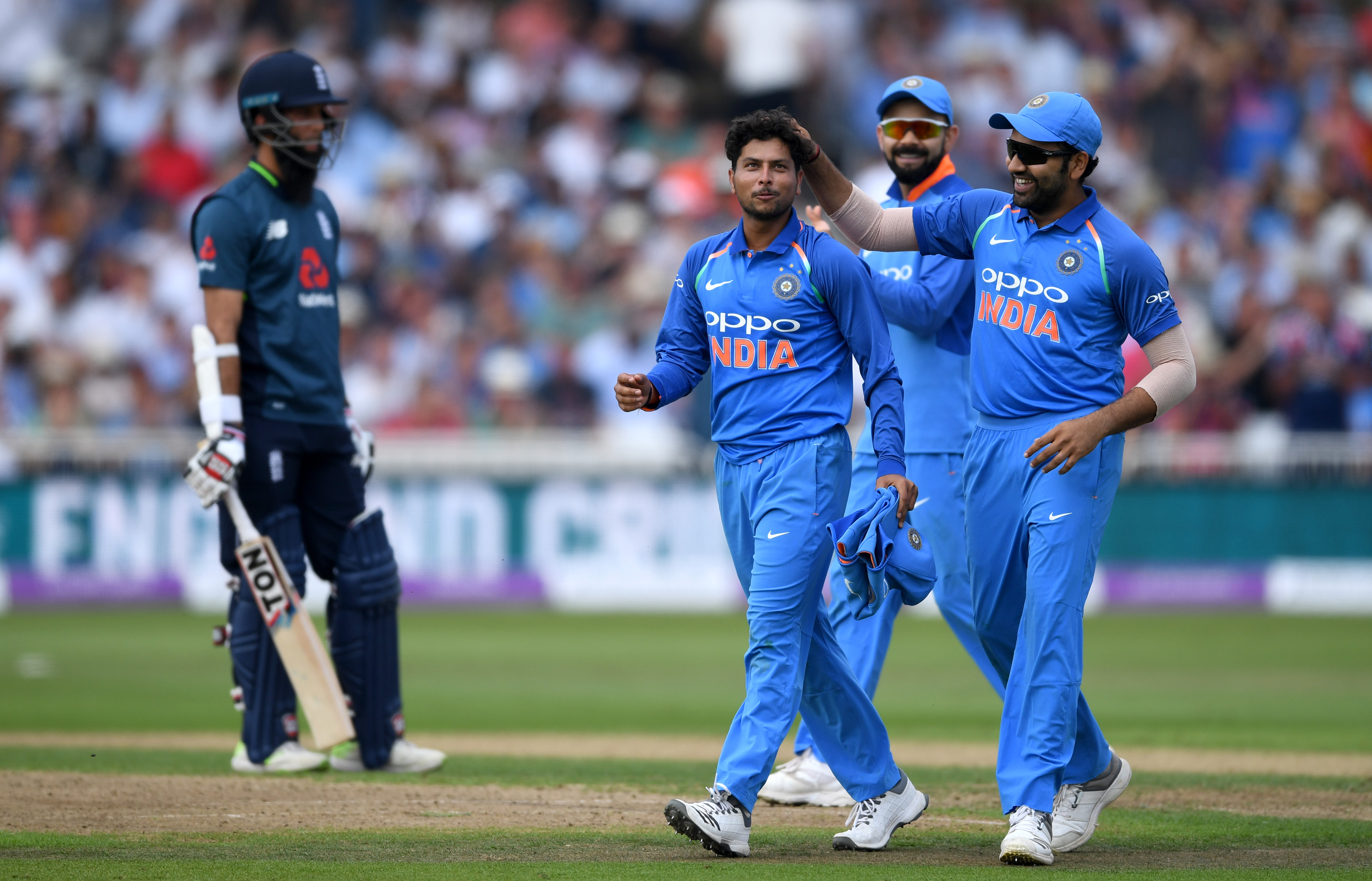 Kuldeep Yadav and Rohit Sharma have been very good in England so far. (Getty)