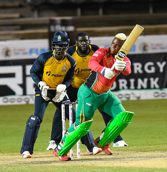 Shimron Hetmyer smashed 36-ball 56 to take Guyana to victory | Getty