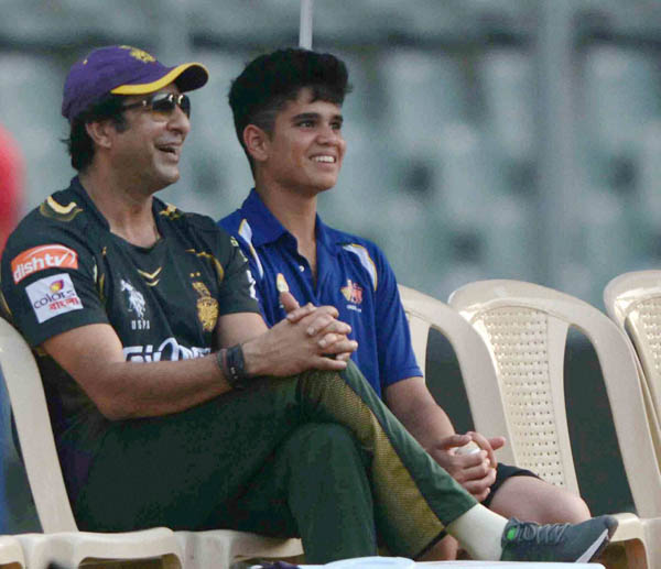 Arjun Tendulkar reveals how Wasim Akram helped him with his bowling