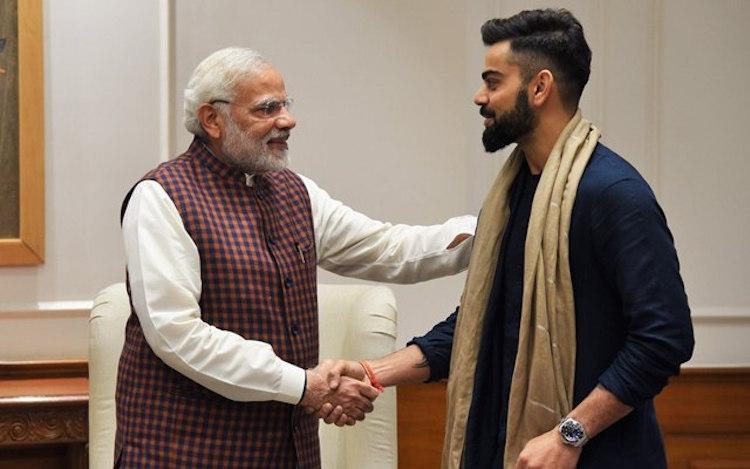 India captain Virat Kohli with Prime Minister Narendra Modi | Twitter