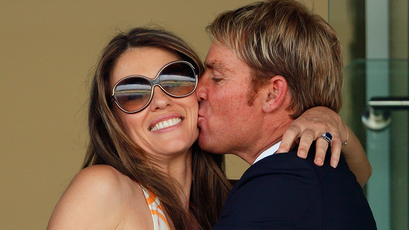 Shane Warne opens up about his relationship with Elizabeth Hurley