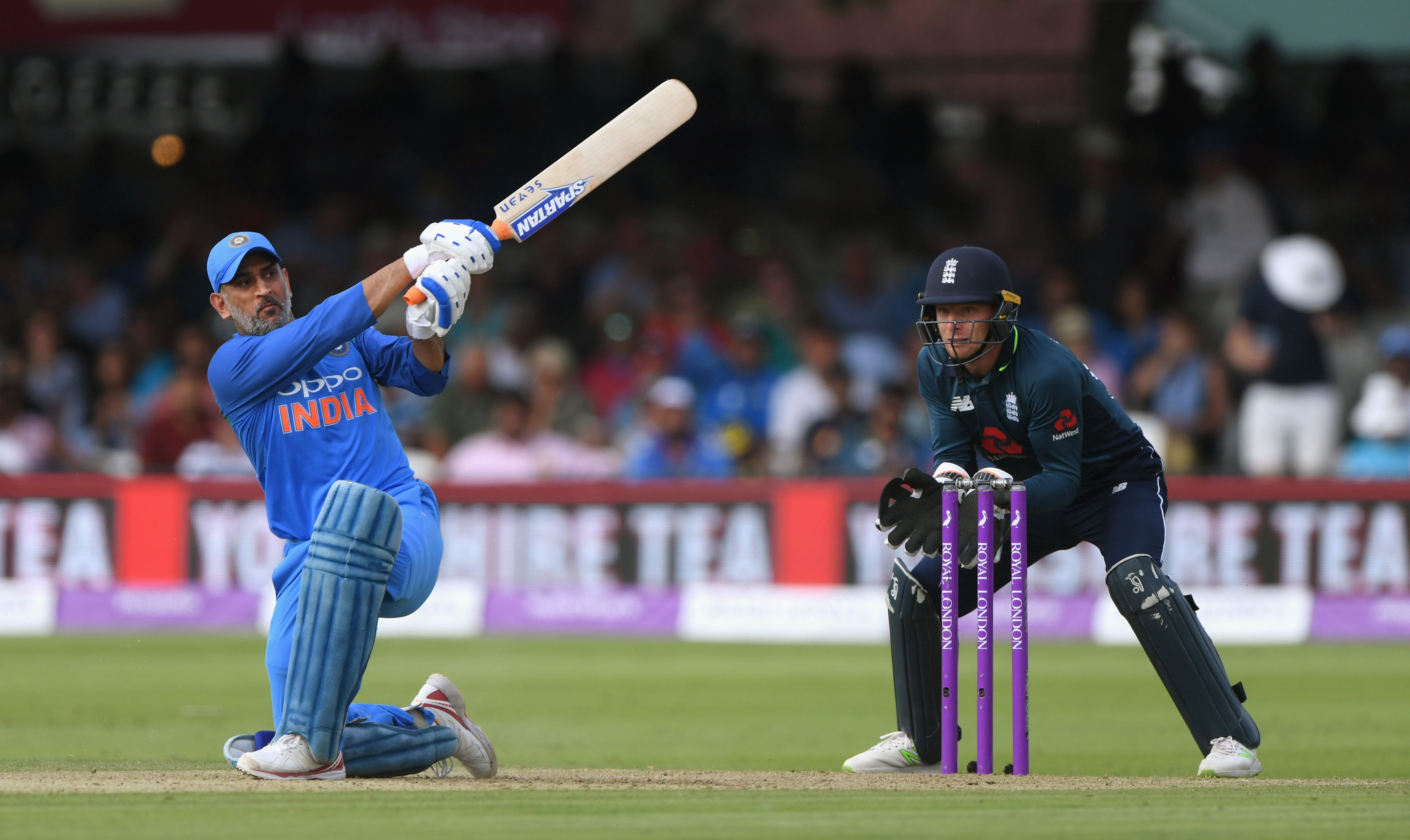 MS Dhoni didn't get going at Lord's at all. (Getty)