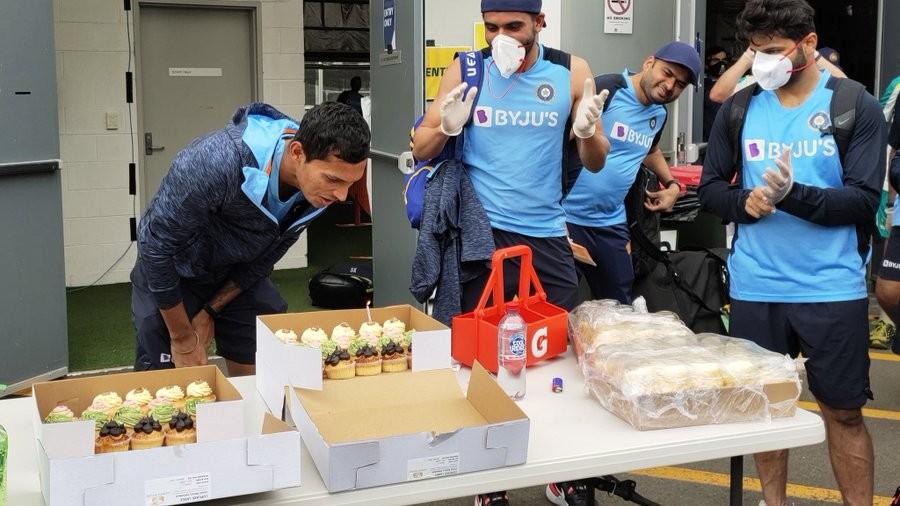 AUS V IND 2020-21: Navdeep Saini celebrates his 28th birthday; no cake smash under protocols