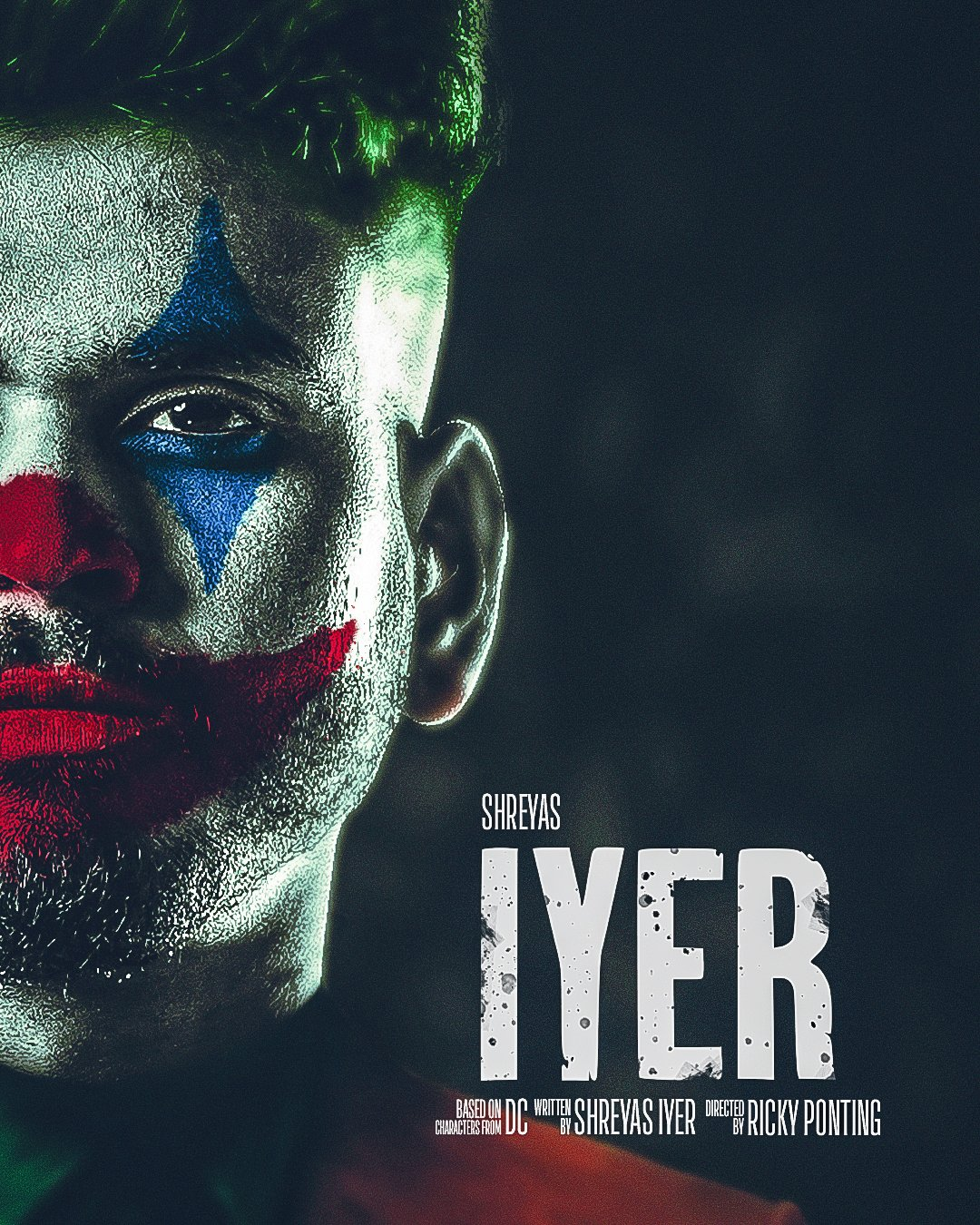 Shreyas Iyer as the Joker | DC Twitter