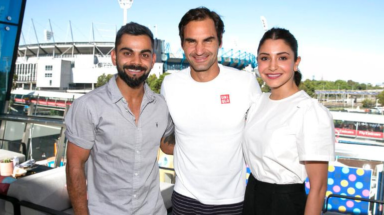 Australian Open trolled by Twitterati over Federer, Kohli, Anushka photo caption