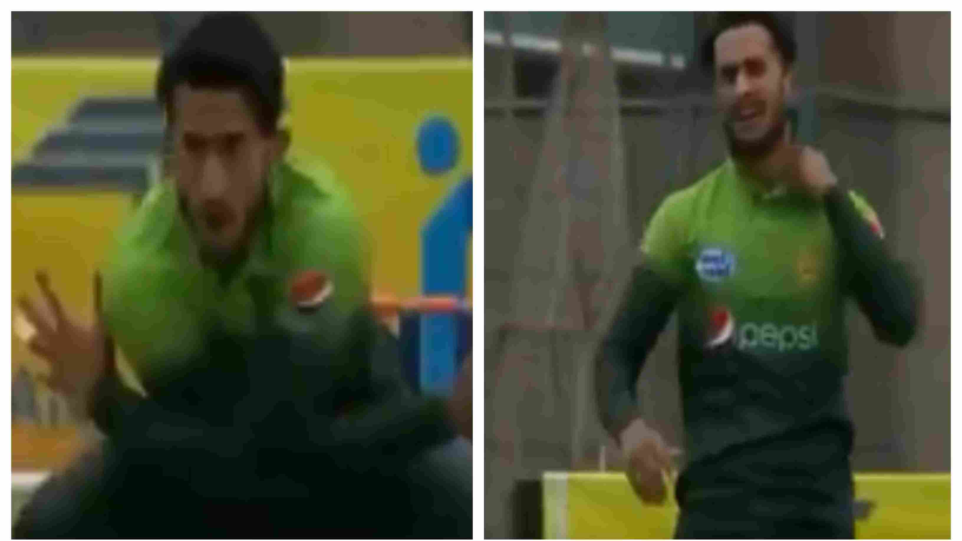 WATCH: Hasan Ali pulls his neck muscle while celebrating the wicket