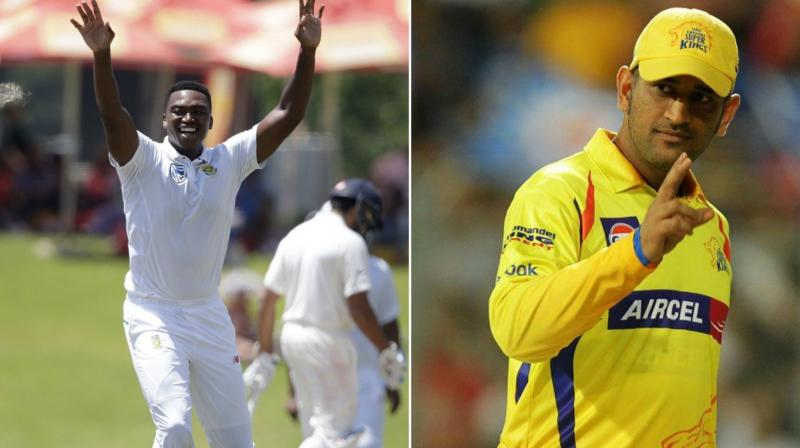 Lungi Ngidi says playing with MS Dhoni is a dream come true for him
