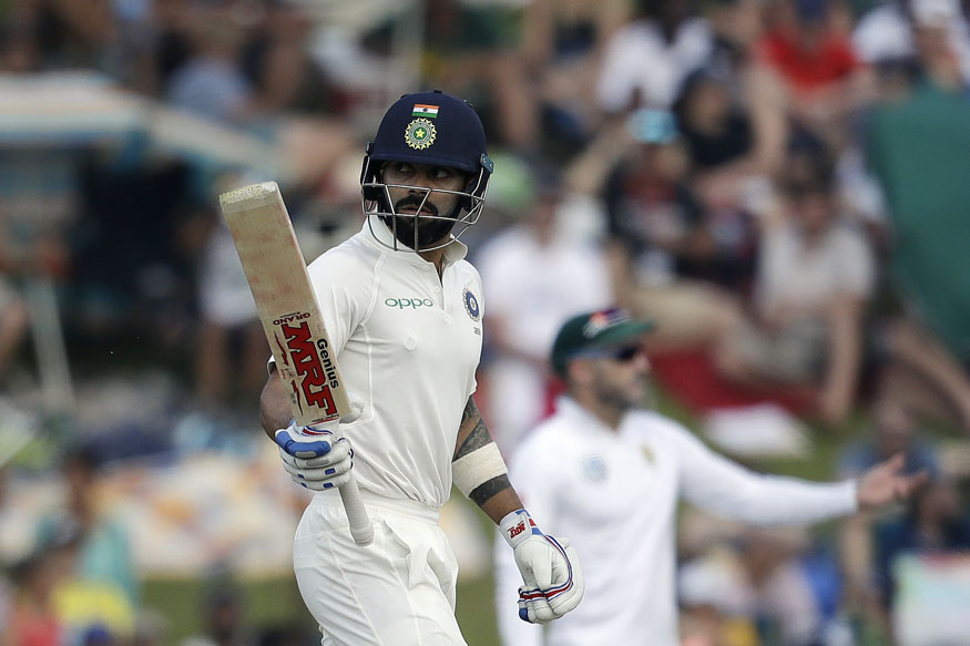 Virat Kohli slams his 21st Test ton during the third day's play at Centurion | AP