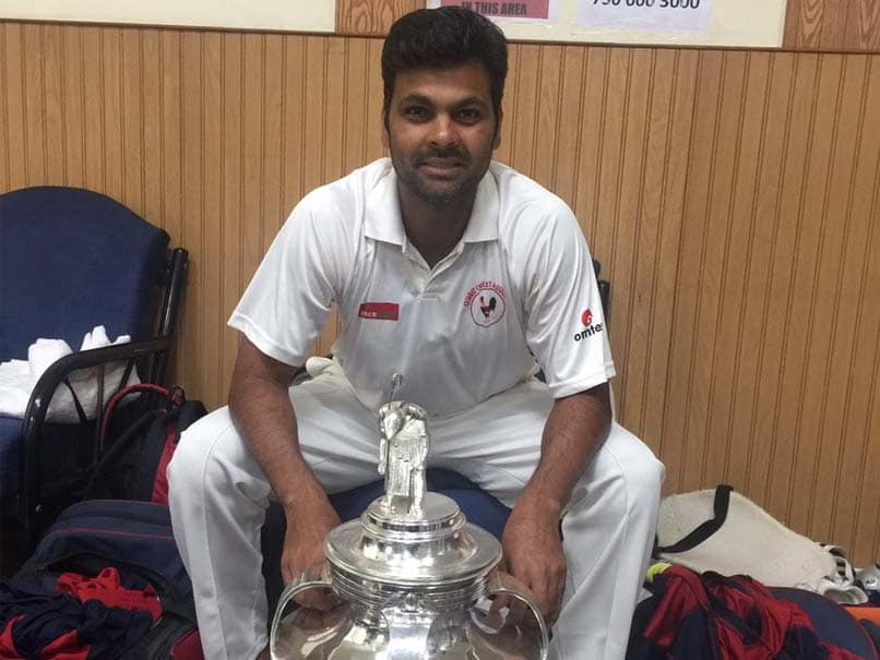 RP Singh with the Ranji Trophy as part of the Gujrat Ranji Team | Twitter