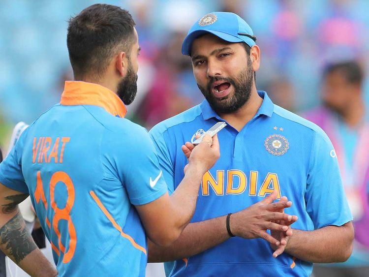 Virat Kohli with Rohit Sharma | AFP