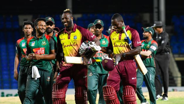 Shakib led Bangladesh to the series win against the Windies. (Getty)