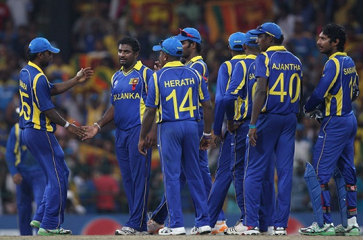 Sri Lanka Team at Wankhede during the final of the World Cup 2011 | Getty Images