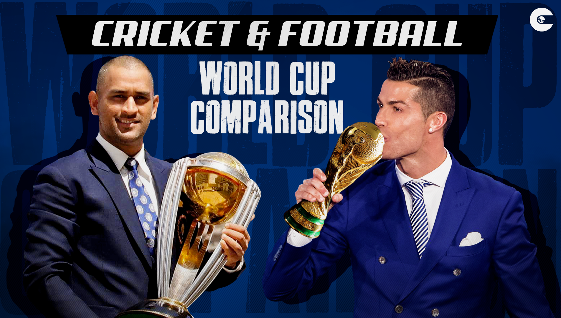 A genial comparison between the FIFA Football World Cup and ICC Cricket World Cup