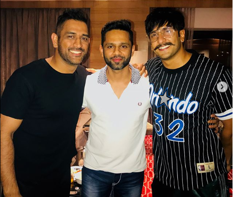 MS Dhoni, Rahul Vaidya and Ranveer Singh | Instagram