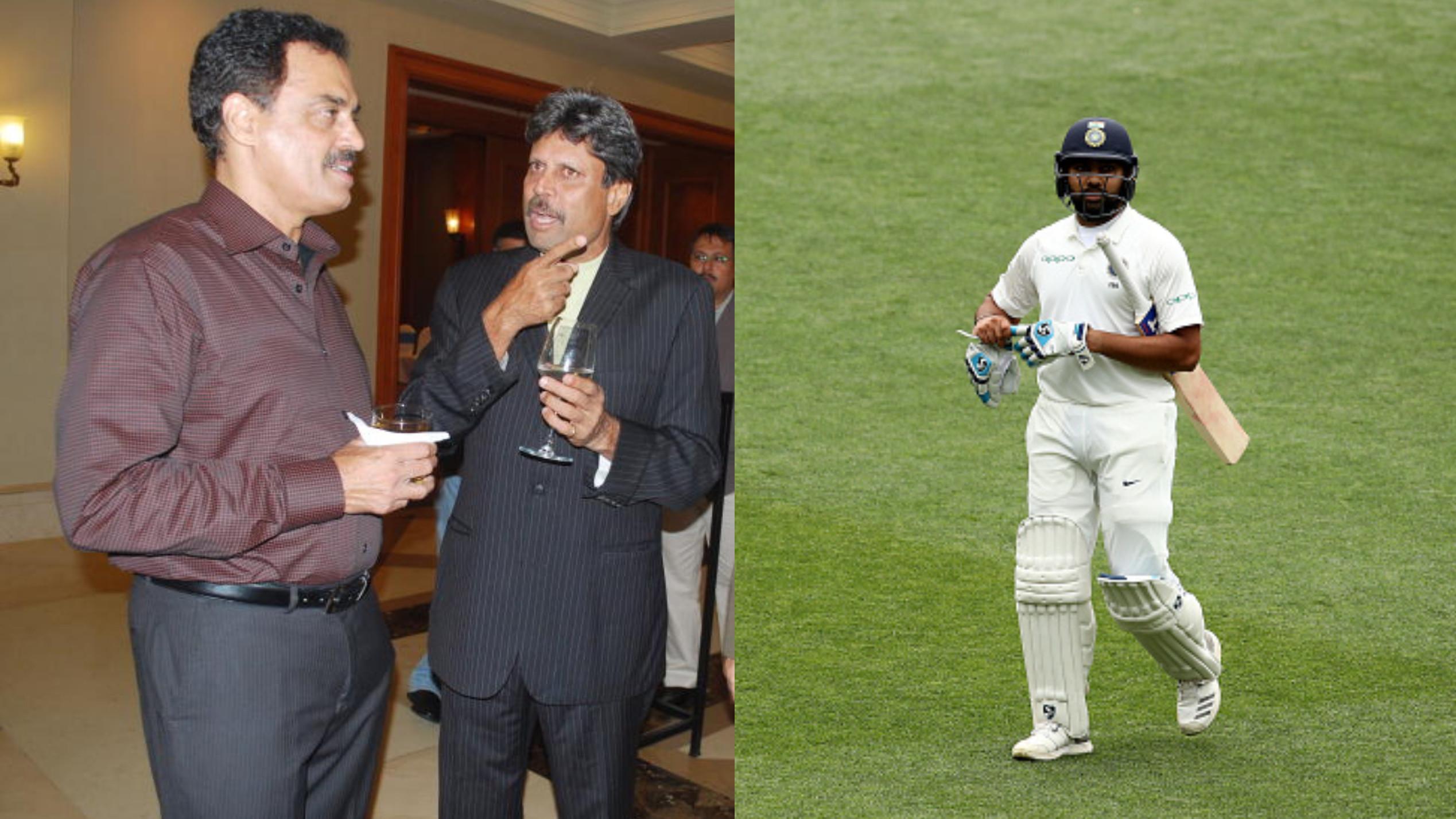 AUS v IND 2018-19 : कपिल देव और दिलीप वेंगसरकर के अनुसार रोहित शर्मा का टेस्ट क्रिकेट में हो सकता हैं पुनरुत्थान