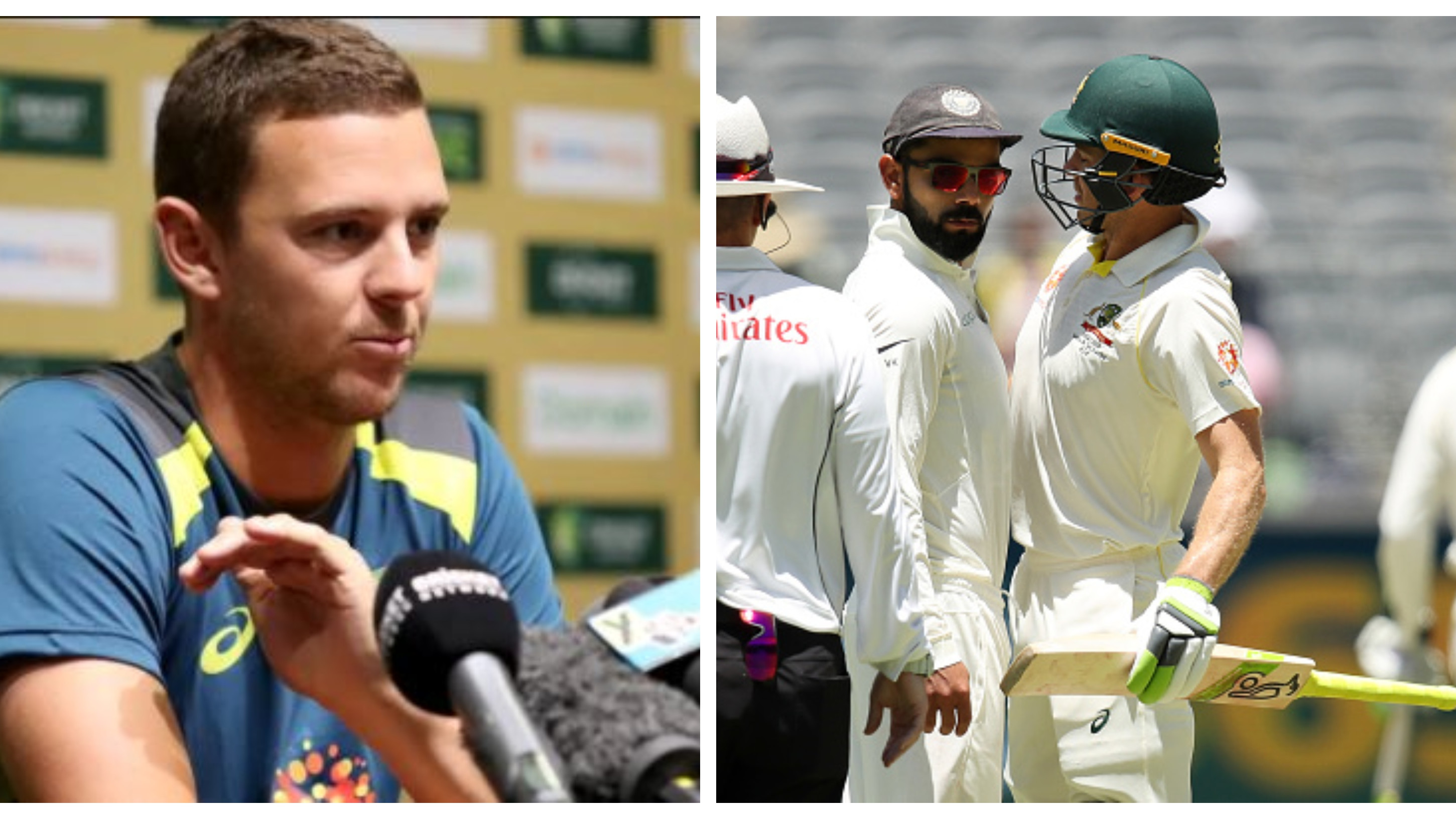 AUS v IND 2018-19: It was all in good spirits between Virat and Paine, says Josh Hazlewood