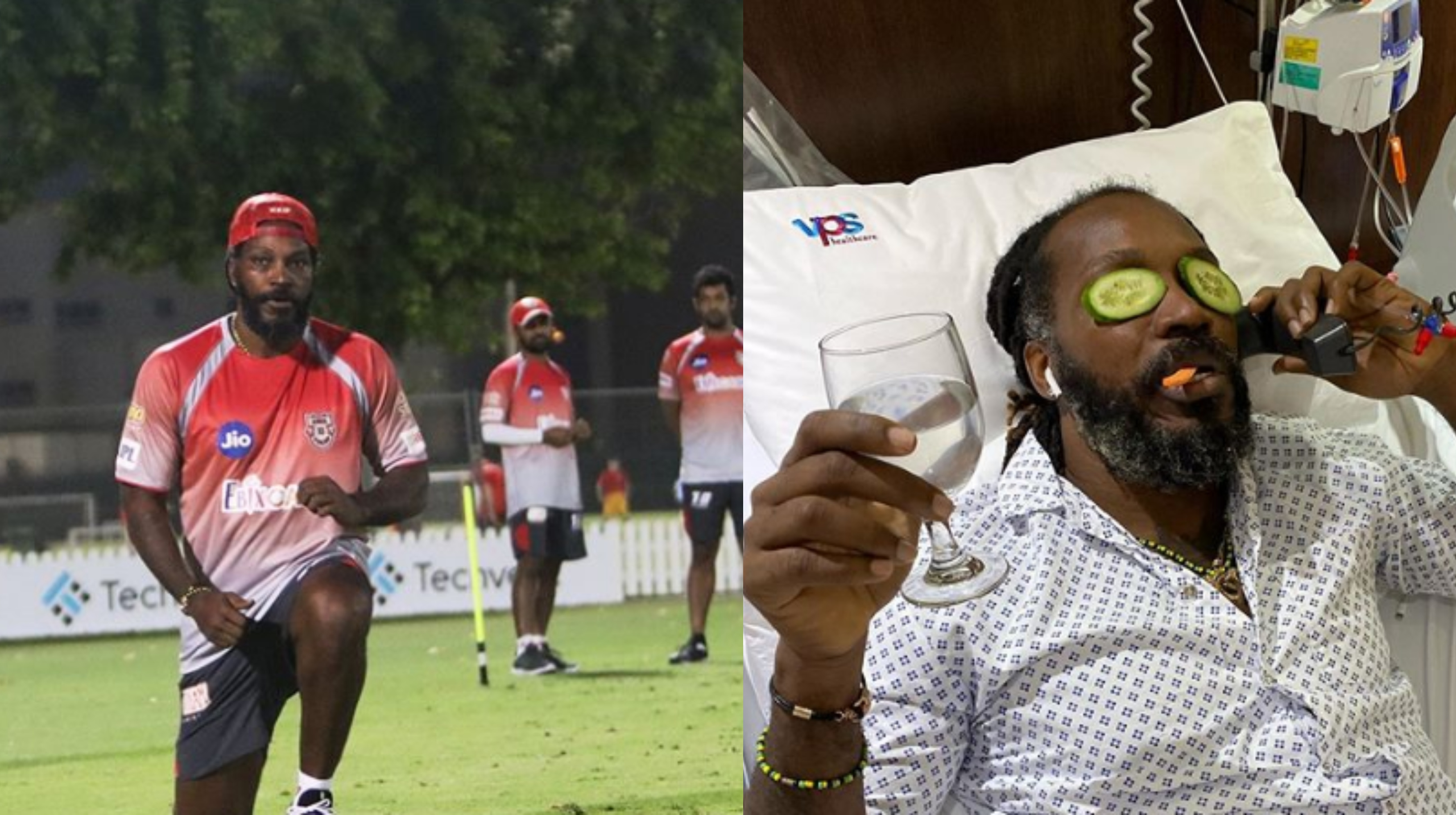 Chris Gayle returned to training after recovering from food poisoning | Instagram