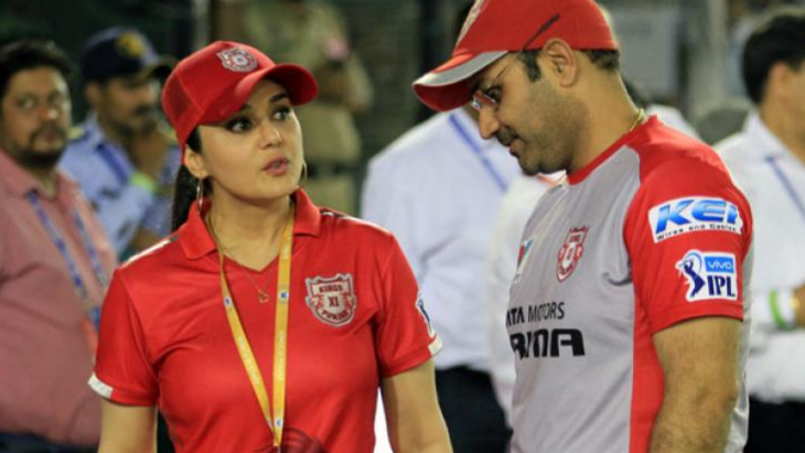 IPL 2018: KXIP refute claims of clash between Virender Sehwag and Preity Zinta