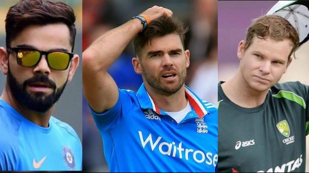 James Anderson picks between India's Virat Kohli and Australia's Steve Smith