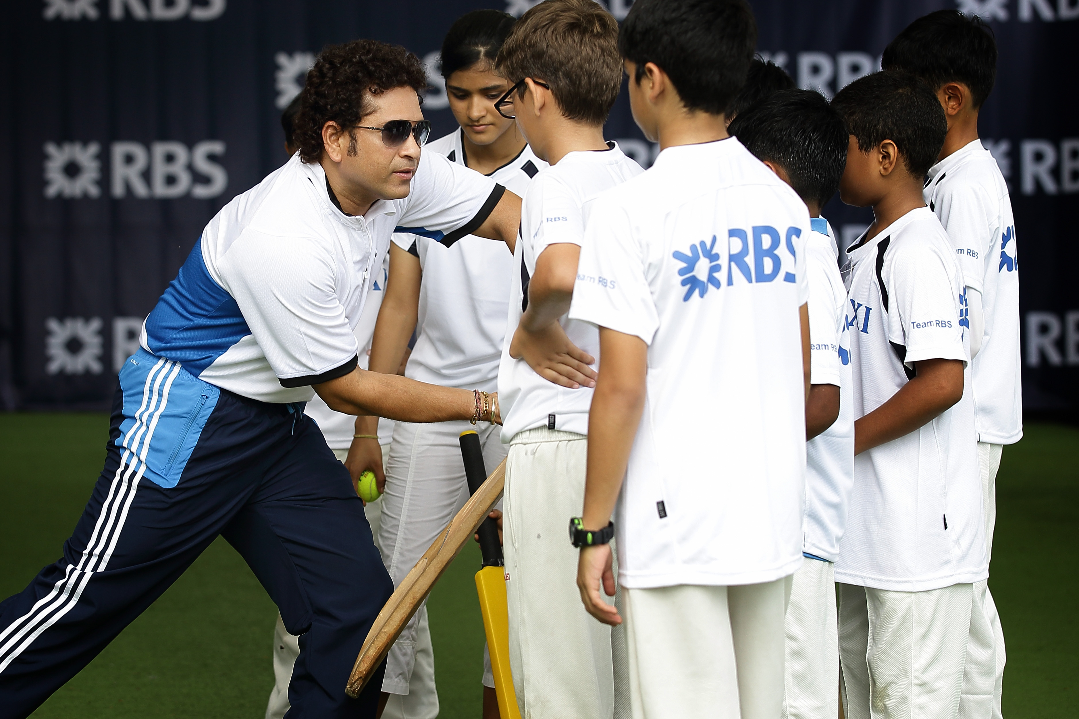 Sachin Tendulkar conducts a masterclass session with young cricketers | Getty